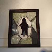 Gentleman Depose Stained Glass Art